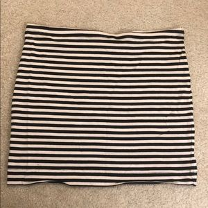 H&M black and white striped tube top